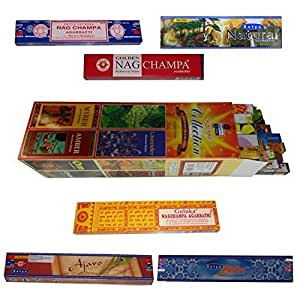 Encens COLLECTION & NAG CHAMPA 31 boîtes 31 Parfums Bâtonnets d'encens indiens