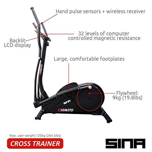 51j4rjAKZcL. SS500  - Viavito Sina Elliptical Cross Trainer - Black