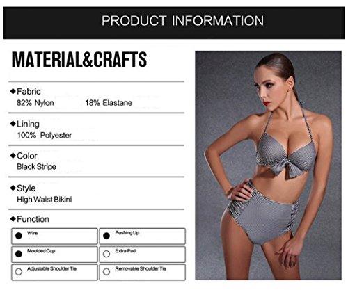 PRIDE S Badeanzug Fashion Sexy Stahl Loft High Taille Bikini Dreieck Zweiteilig Anzug Bunte