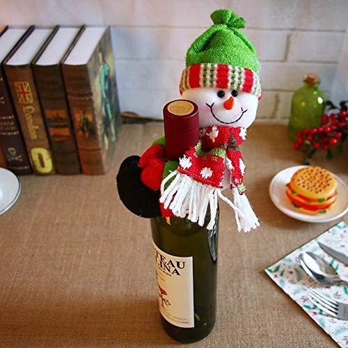 (SPFAZJ Weihnachten Tischdekoration Weihnachten Dekoration Weihnachten Schneemann Greis liefert, die Holding Wein Champagner Flasche gesetzt zu Gruppe B AR Restaurant Dekoration Anordnung)