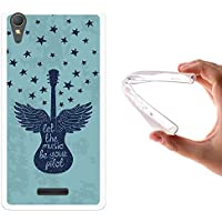 WoowCase Funda Sony Xperia T3, [Sony Xperia T3 ] Funda Silicona Gel Flexible Guitarra Frase - Let The Music Be Your Pilot, Carcasa Case TPU Silicona - Transparente