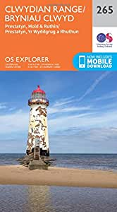 OS Explorer Map (265) Clwydian Range, Prestatyn, Mold and Ruthin