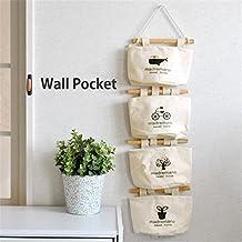 Organizzatore da Appendere Salvaspazio Guardaroba Muro Porta per Intimo Calzini 4 sacchetti Gadget Pouch borsa muro organizzatore sacchetto pieghevole