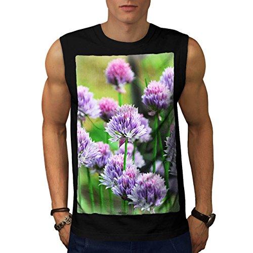 Klee Blume Wild Natur Natur Herren M Ärmellos T-shirt | Wellcoda (Klee Licht-t-shirt)