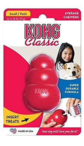 Kong Small Rubber Treat Dispenser - Worlds Best Dog Toy Red Color by Pet Chew Toys