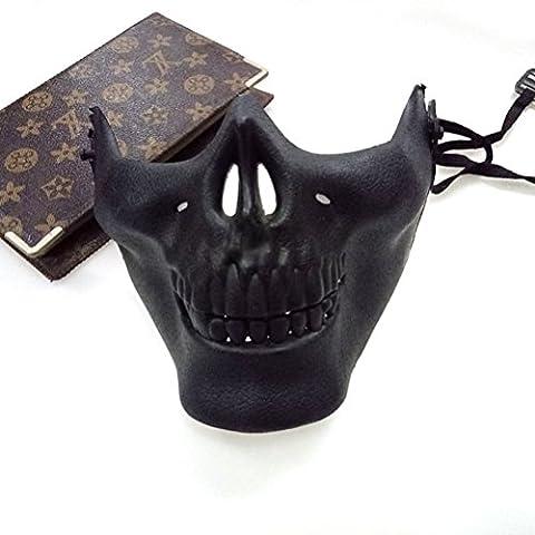 OULII 3pcs parti masque Skull Costume squelette accessoires pour Halloween Masquerade
