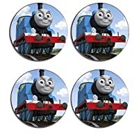 Thomas The Tank Engine Drink Coasters ( Set of 4 ), Wooden cork Drinks mat, place mat