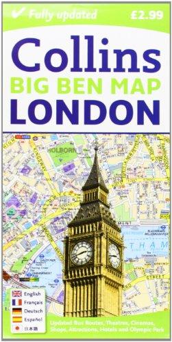 Londres Big Ben Map 1:9.000 por VV.AA.