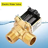 AC 220V G1/2 Válvula Solenoide, Electroválvula de Latón, Normalmente Cerrada, Anticorrosión, Mantender Presión hasta 0.8Mpa, para Tuberías en Aplicaciones de Suministro de Agua