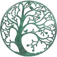 Escultura circular de un árbol de metal para pared de 58 cm