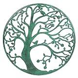 Large 58cm Verdigris Metal Tree Circle Wall Art Sculpture for Garden or Home - Gardens2you - amazon.co.uk