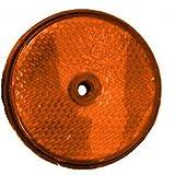 Rückstrahler 60mm Schraube Orange