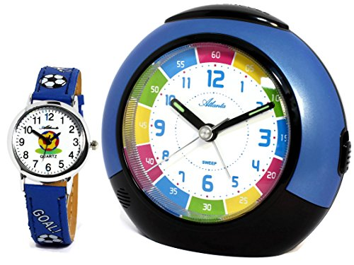 ohne Ticken mit Armbanduhr Kinder Blau - 1678-5 KAU ()