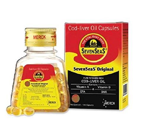 Merck Pharma SevenSeas Original Cod liver Oil Capsules (500 capsules)
