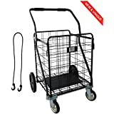 IRON MAN - Multi-functional shopping trolley - Load capacity: 100kg, the largest in shopping ...