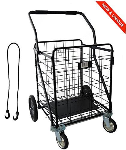 IRON MAN - Multifunktions-Einkaufswagen - Tragfähigkeit: 100kg, die größte im Einkaufswagen Markt