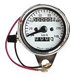 Motorrad Elektronischer Tachometer - SODIAL(R)Motorrad Mini Elektronischer Tachometer mit Kilometerzaehler Nachtlicht