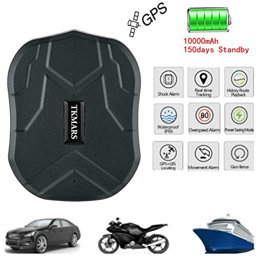 Hangang GPS Tracker GPS para Coche Impermeable/gsm/gprs Tracking 150 Días Standby GPS...