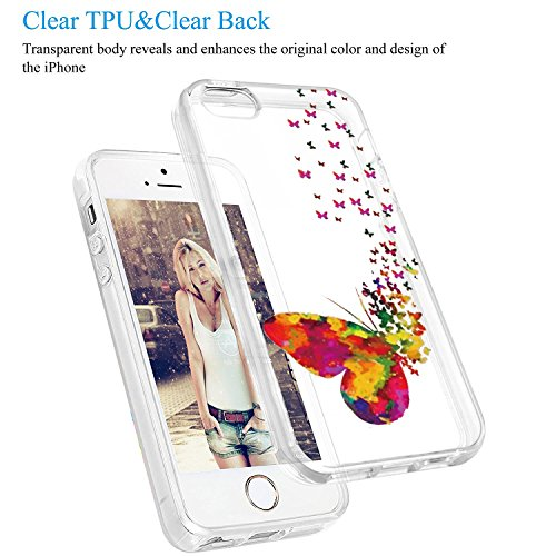 Custodia iPhone SE 5S Cover, JEPER Ultra Thin Slim Flessibile Crystal Clear Trasparente Premium TPU Silicone Gel Assorbimento Urto Anti-Scratch Case per Apple iPhone 5 05