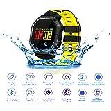 JASZHAO IP68 Wasserdichte Bluetooth Smart Watch, Multiple Sports Modes/Running/Cycling/Schwimmen/Fitness/Herzfrequenz-Monitore/Für Android IOS,C