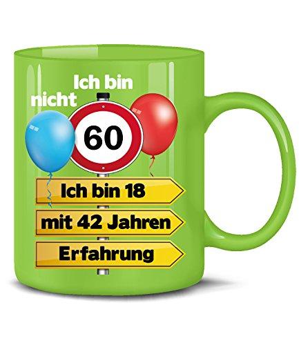 Golebros Ich Bin Nicht 60 ich Bin 18 mit 42 Jahren Erfahrung Tasse Becher Kaffee Runder Geburtstag Geschenk Opa Oma Frauen Männer Birthday Ihn Sie Artikel -