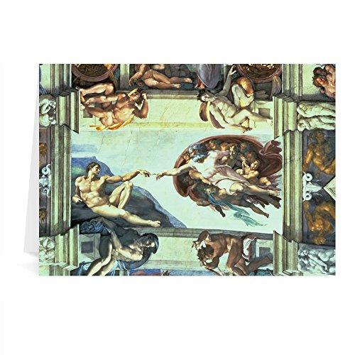 Sistine Chapel Ceiling: Creation of Adam,.. - Grußkarten (2er Packung) - 17,8x12,7 cm -...