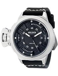 Welder  - Reloj Analógico de Cuarzo unisex, correa de Cuero color Negro