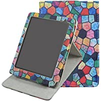 "Kobo Aura Edition 2 Liseuse Coque Housse - Mama Mouth Folio Housse Étui en Cuir Coque avec support ajustable multi angle Pour 6"" Kobo Aura Edition 2 Liseuse E-reader 2016 Release,Stained Glass"