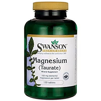 Swanson Magnesium Taurate 100mg, 120 Tablets from Swanson Health Products