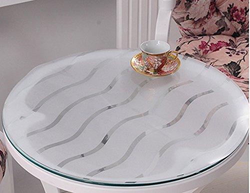 Nappes Ronde en Verre Souple PVC Transparent Givré Étanche Table Mat Table De Thé Mat Table Ronde en Plastique Rond (1.5mm) (Taille : Diameter 130 cm)