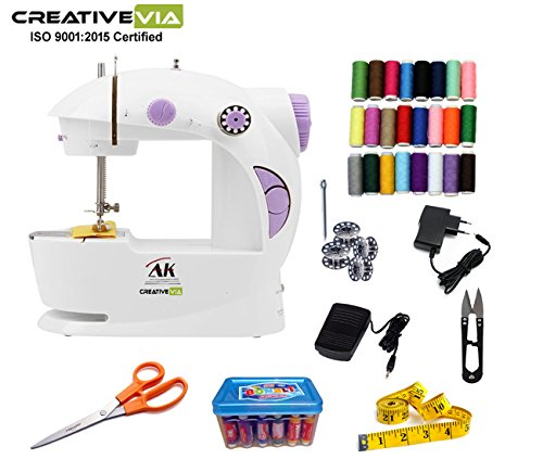 Creativevia Ak Portable & Compact With Accessories Mini Electric Sewing Machine