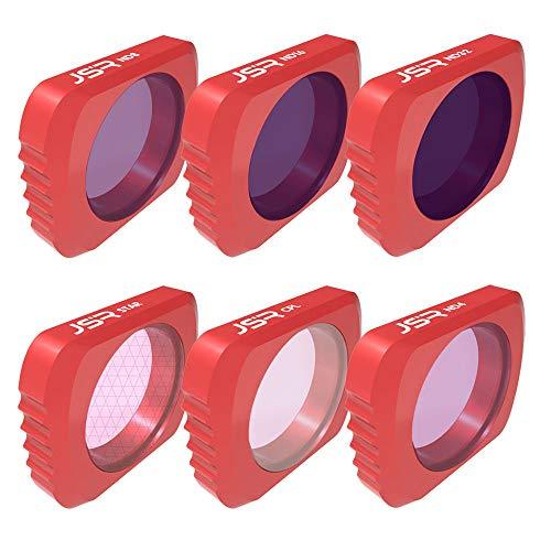 6 pcs Kameraobjektivfilter einstellen CPL + ND4 + ND8 + ND16 + ND32 Kameraobjektivfilter Für DJI OSMO Tasche (Rot)