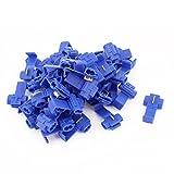 50 Pc Azul Bloqueo Rápido Empalmar 18-14AWG Conectores De Cables