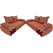 Marrakesch Elvedin - Sofá esquinero Oriental de 200 cm, 6 plazas, Conjunto de sofá