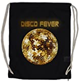 DISCO LIGHT II Bolsa de cuerdas con Cordón Gimnasio Retro Oldies Music Musik Nerd Techno Indie Electro Wave New Hipster Club Clubbing Rave Cyber Dance Mirror Ball Starlight Star 70s 80s 90s