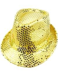 7488b614 LOCOMO Women Girl Fedora Trilby Homburg Stetson Short Brim Sequin Glitter  Hat Dance Dancer Stage Party