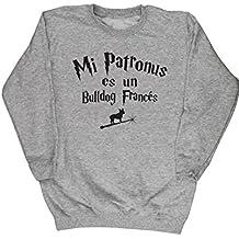 HippoWarehouse Mi Patronus es un Bulldog Francés jersey sudadera suéter derportiva unisex niños niñas
