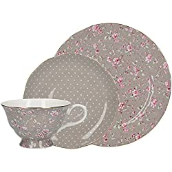 Katie Alice Ditsy Grey Floral Bone China Afternoon Tea Gift Set