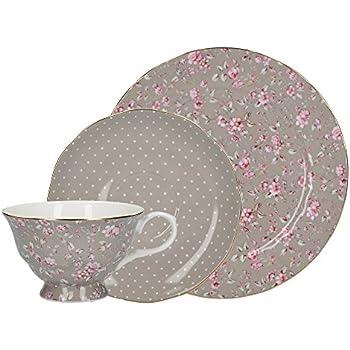 8 cm Clayre /& Eef 6CEMU0005 Becher /Ø 6 0,1L Kaffeetasse Teetasse Vintage