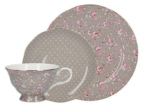 CREATIVE TOPS Gris Katie Alice Petites Fleurs en Porcelaine Afternoon Tea Gift Set