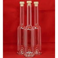 6 x 500 ml bottiglie di vetro vuote con tappo da slkfactory