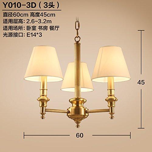 JJGG Villaggio Le lampade di bronzo ottone pieno lampadari soggiorno