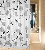 Luxury Modern Bathroom Shower Curtains Extra Long with Hooks 180 x 200cm