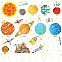 Decowall The Solar System Kids Wall Stickers Wall Decals (1501 1501S 8018)