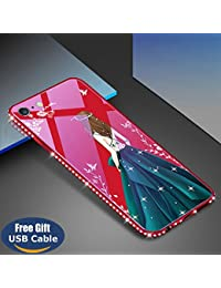 7eb913361ac Aireratze iPhone 6S Plus case,iPhone 6 Plus cover, [Crystal Series]  [Tempered Glass Back] Soft Gel TPU [Glitter Bling Diamond] Slim…