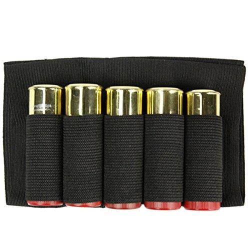 LKXHarleya Jagd Tactical Shotgun Beutel 5 Butt Cartridges Lager Shell Halter Elastische Stoff Munition Tragetasche -