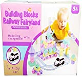 #8: Vivir High Quality Railway Fairyland Building Block Toys for Kids with Alloy Car and Track Set ( Toys for 3 Year Old Boy and Girl )