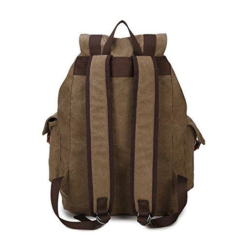 SZH Innenliegender Rucksack für Schul Laptop Rucksack Wanderrucksack Rucksack Khaki