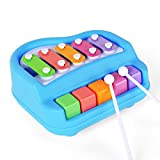 #1: Toykart 2 in 1 Mini Musical Xylophone and Mini Piano, Non Toxic, Non-battery, Xylophone for kids