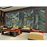 Shukun Wandbild Große Tapete Malerei Tropischer Regenwald Blätter Fototapete 3D Selbstklebende Vinyl/Seidentapete, 336 (L) * 236 (H) Cm